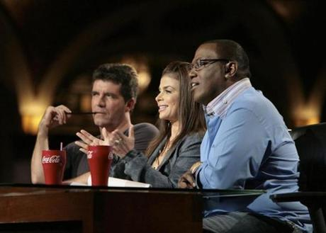 "The original ""American Idol"" judges (from left: Simon Cowell, Paula Abdul, and Randy Jackson) were our surrogates."